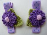 Decorative hair clasps in purple